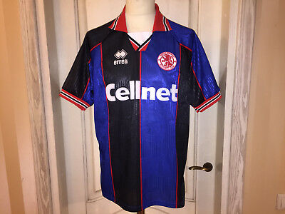1995 96 Middlesbrough Boro Fußball Trikot England Football Shirt Jersey Errea L