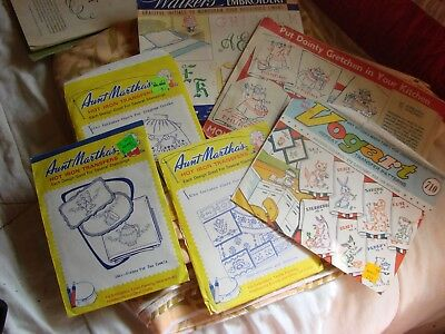 Vintage lot of Embroidery Stencils 6 packages various makers, various styles