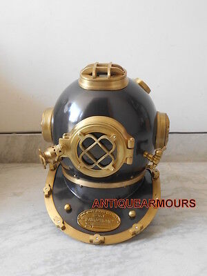 Antique U.S Navy Diving Divers Helmet- Mark V diving Divers Helmet 18 Inch