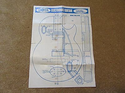 Vintage Electronic guitar instructions 1972