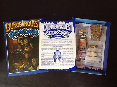 Warhammer Vintage 80's Games Workshop Dungeonquest Catacombs Expansion Boxed Set