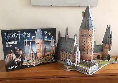 Fabulous Wrebbit Harry Potter 3D Hogwarts Great Hall 850 Pce Jigsaw Puzzle Model