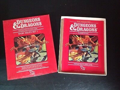 TSR Dungeons And Dragons Vintage 80's Set One Basic Rulebooks Boxed Set