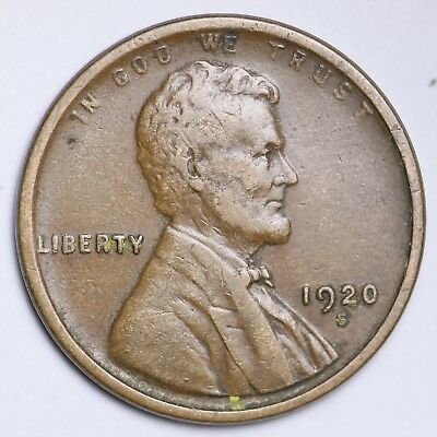 XF 1920-S Lincoln Wheat Cent Penny FREE SHIPPING!