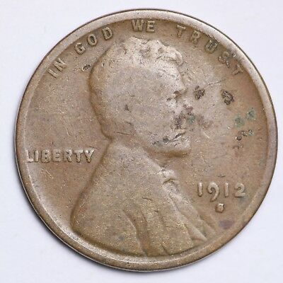 1912-S Lincoln Wheat Cent Penny NICE!