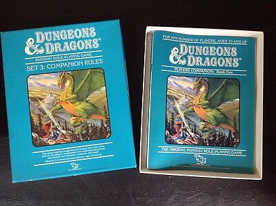TSR Dungeons And Dragons Vintage 80's Set Three Companion Rulebooks Boxed Set