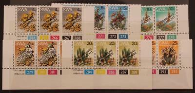 South West Africa Namibia 1978 Universal Suffrage Margin Control Mark Set MNH
