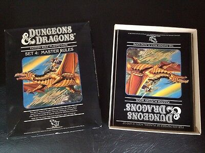 TSR Dungeons And Dragons Vintage 80's Set Four Master Rulebooks Boxed Set