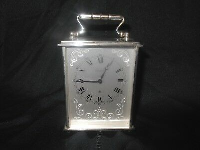 Vintage Swiss Imhof 8 day 15 jewels carriage clock
