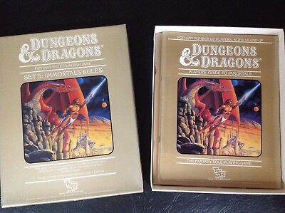 TSR Dungeons And Dragons Vintage 80's Set Five Immortals Rulebooks Boxed Set