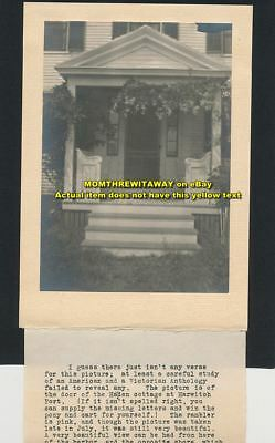 1920s Photo MA Cape Cod Harwich Port Hayden Cottage