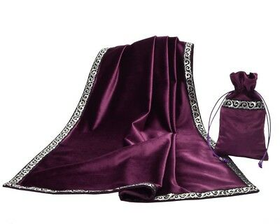 """1pc Altar Tarot Table Tablecloth Decor Divination Cards Square Wicca Cloth 27.5"""""""