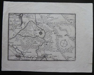 Mercator 1628 France Small Map La Motte au Bois...