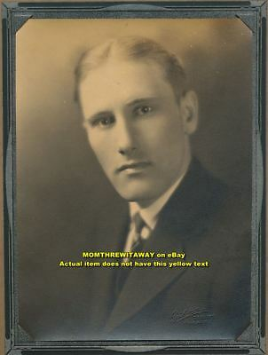 Old Photo Young Man Cyrus Schrotberger Chicago Illinois