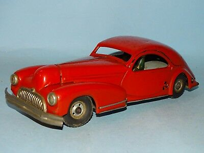 Two Door Coupe Tin Windup Toy Germany/italy