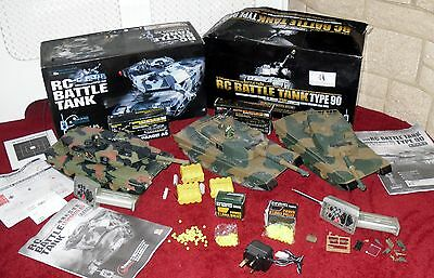 Remote Controlled Battle Tanks With Firing Gun - Leopard A5 & Type 90 1/24 Scale