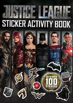 DC Comics: Justice League Sticker Activity Book Paperback Book Free Shipping!