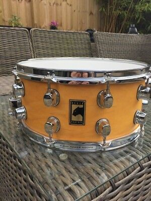 mapex black panther snare drum 14x6.5 natural finish