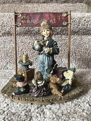 Boyds Bear Dollstone Limited Ed Series 2 The Amazing Bailey Magic Show At 4