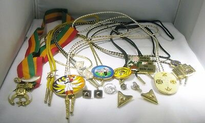 SHRINER SHRINE AAONMS MASONIC JEWELRY (Costume) LOT - Excellent Used Condition