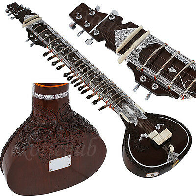 Sitar~Ravi Shankar Style~Designer Tun Wood~Professional Quality~Hand Made Indian