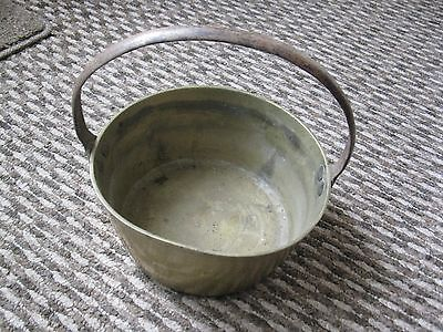 Vintage Brass Cooking Pot Iron Handle Jam Pan