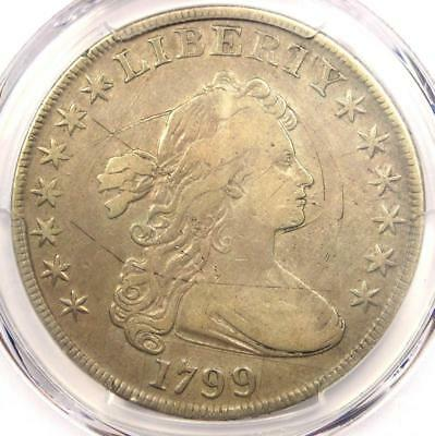 1799 Draped Bust Silver Dollar $1 - Certified PCGS Fine Details - Rare Coin!