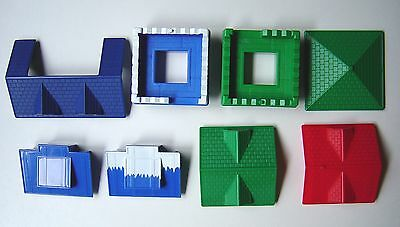 Snowy Mountain  Rocky River  Blue Buildings  Sheriff Lincoln Logs  Windows Door