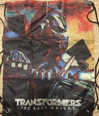 TRANSFORMERS THE LAST KNIGHT DRAWSTRING BAG with Optimus Prime-Factory Sealed