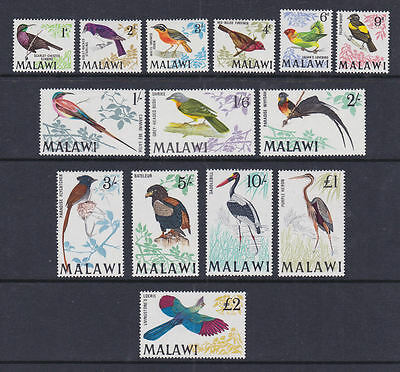 Malawi 1968 Mint MLH Full Set Definitives 14 values Birds Flycatcher Heron Robin