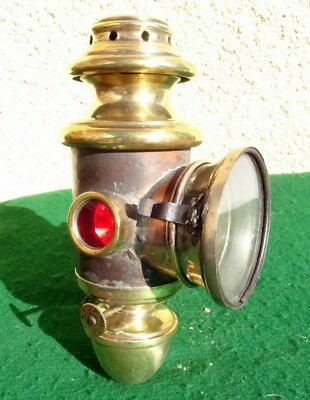 Ancienne lampe Petrole velo Vintage 1900's   Bicycle Lamp / Light 4