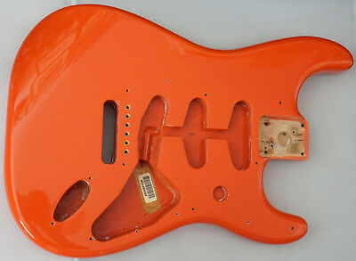 Original Fender Stratocaster Korpus - Fiesta red - Strat Body Erle MiM Top!