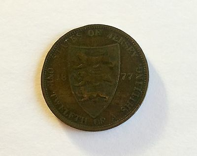 Victoria 1877 Jersey 1/12th of a Shilling