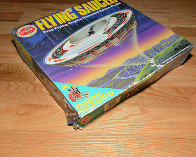 Brand New Cox Flying Saucer Free Flying Engine Powered Space Probe in Box