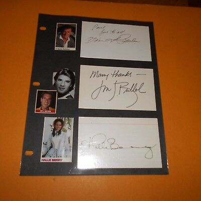 Quinn Redeker/Jim Bullcok/Halle Berry/Mary Kay Adams +2 Hand Signed 6 Items
