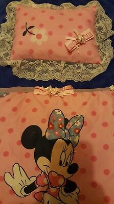 dolls cot/pram pillow&cover set