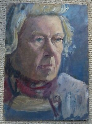 Vintage portrait of a woman , Original,  Oil on board
