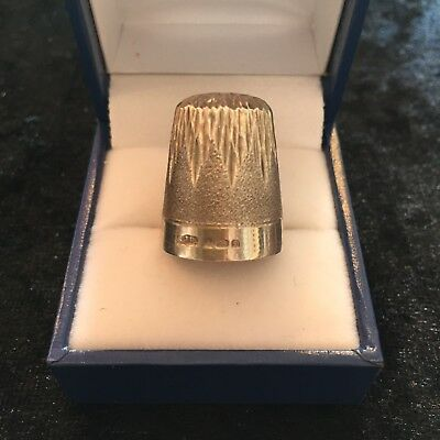 Lovely Textured Vintage Sterling Silver Thimble Birmingham Hallmark 1970s