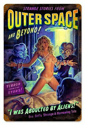 Outer Space Metal Sign ( Greg Hildebrandt )
