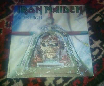 "Iron maiden aces high spain promo 7"". Ultra rare spanish 1984 release mint"