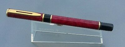 WATERMAN LAUREATE FOUNTAIN PEN in RED with Gold trim