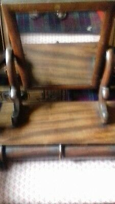 A Lovely Sized Antique Victorian Toilet Dressing Table Swing Mirror