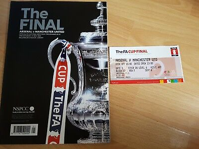 Arsenal Vs Manchester United 2005 FA Cup Programme & Ticket