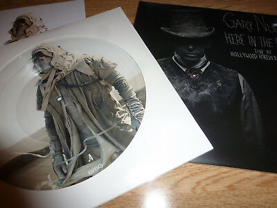 GARY NUMAN picture disks SAVAGE & HERE IN THE BLACK Limited edition picture disk