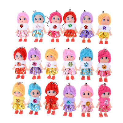 5X8cm Confused Doll Hat Scarf Doll Phone Strap Bag Pendant Keychain Ornaments JX