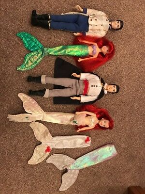 The Little Mermaid Ariel and Eric Dolls