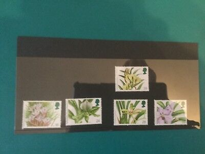 Gb mint stamps (r19) 1993 Orchids