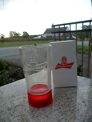 Budweiser Goal Synced Red Light Glass Limited Edition RARE Canada SYNC New