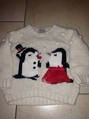 girls Next christmas jumper 12 - 18 months