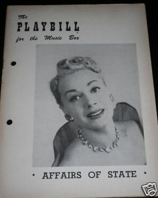 Affairs Of State 1951 Playbill June Havoc Camel Ad
